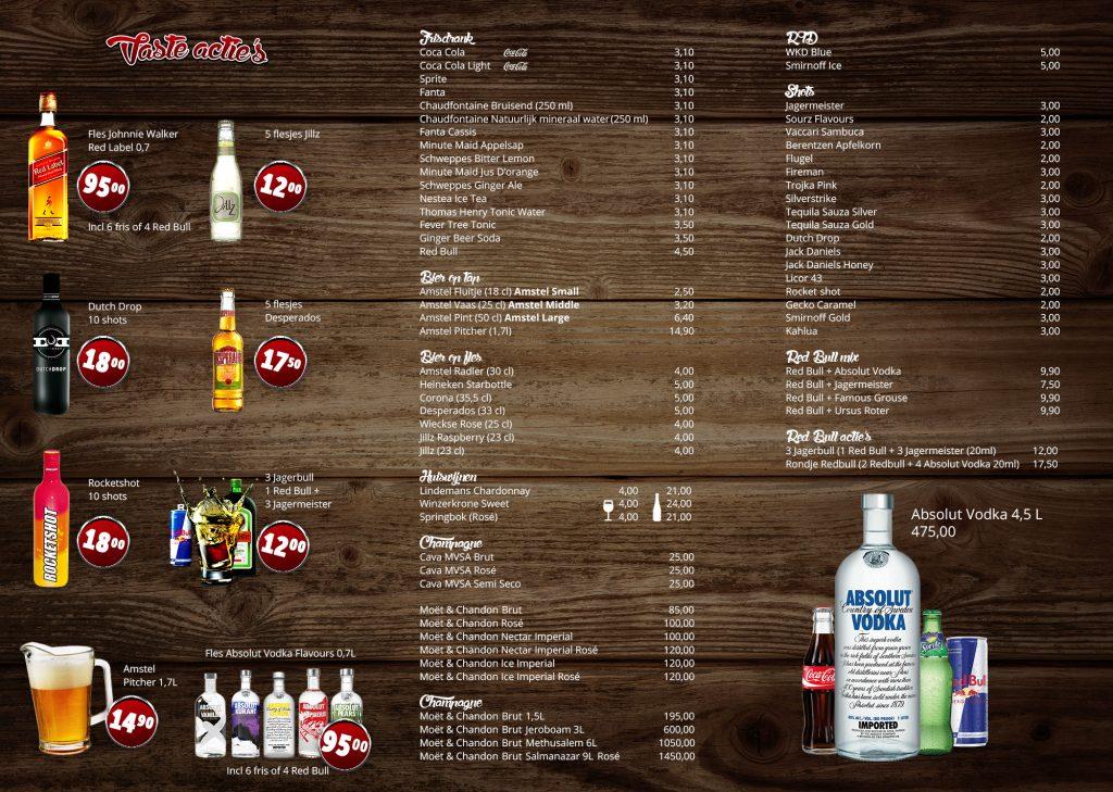 Drankkaart small binnenkant jv