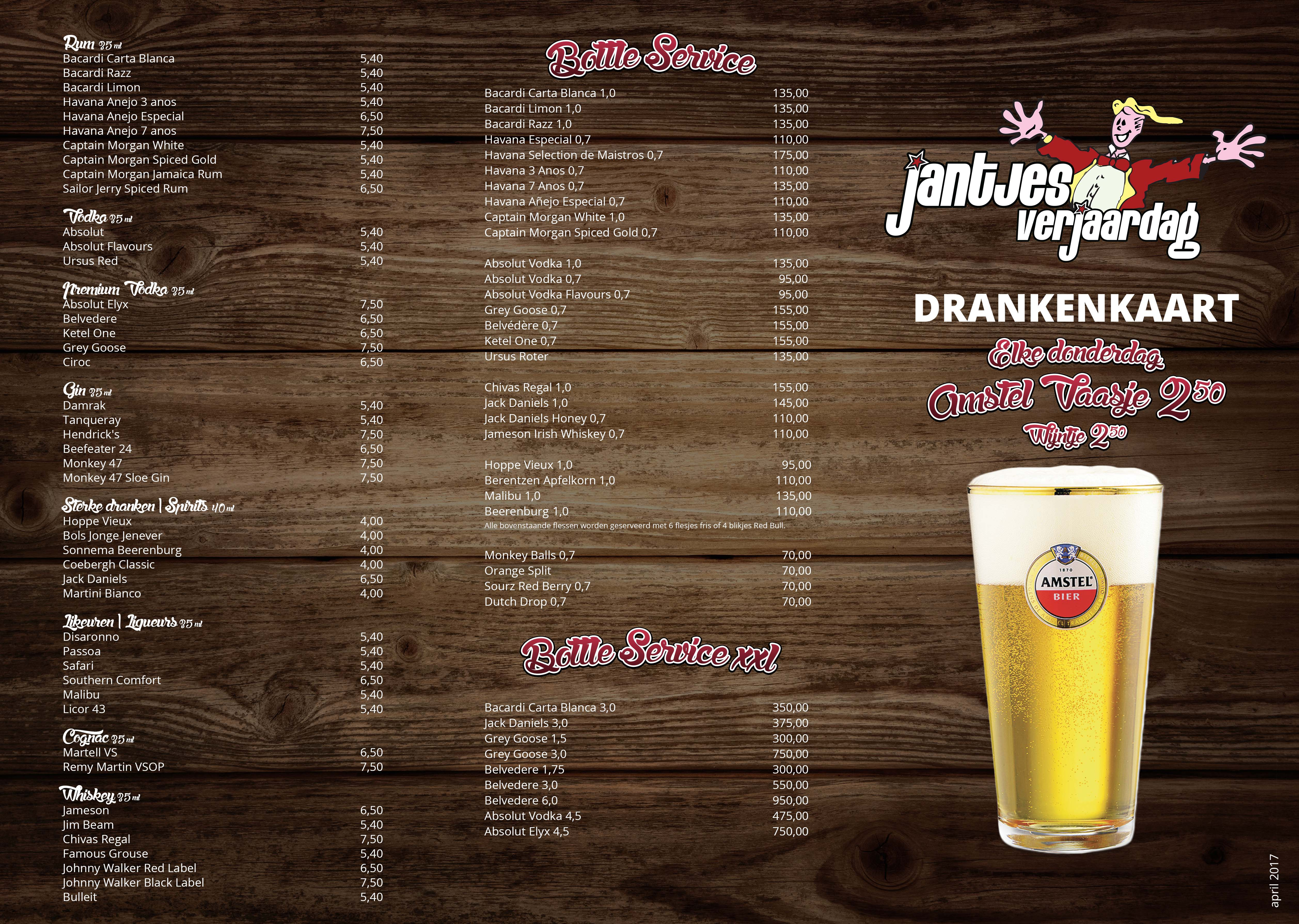 Drankkaart A3 JV A online