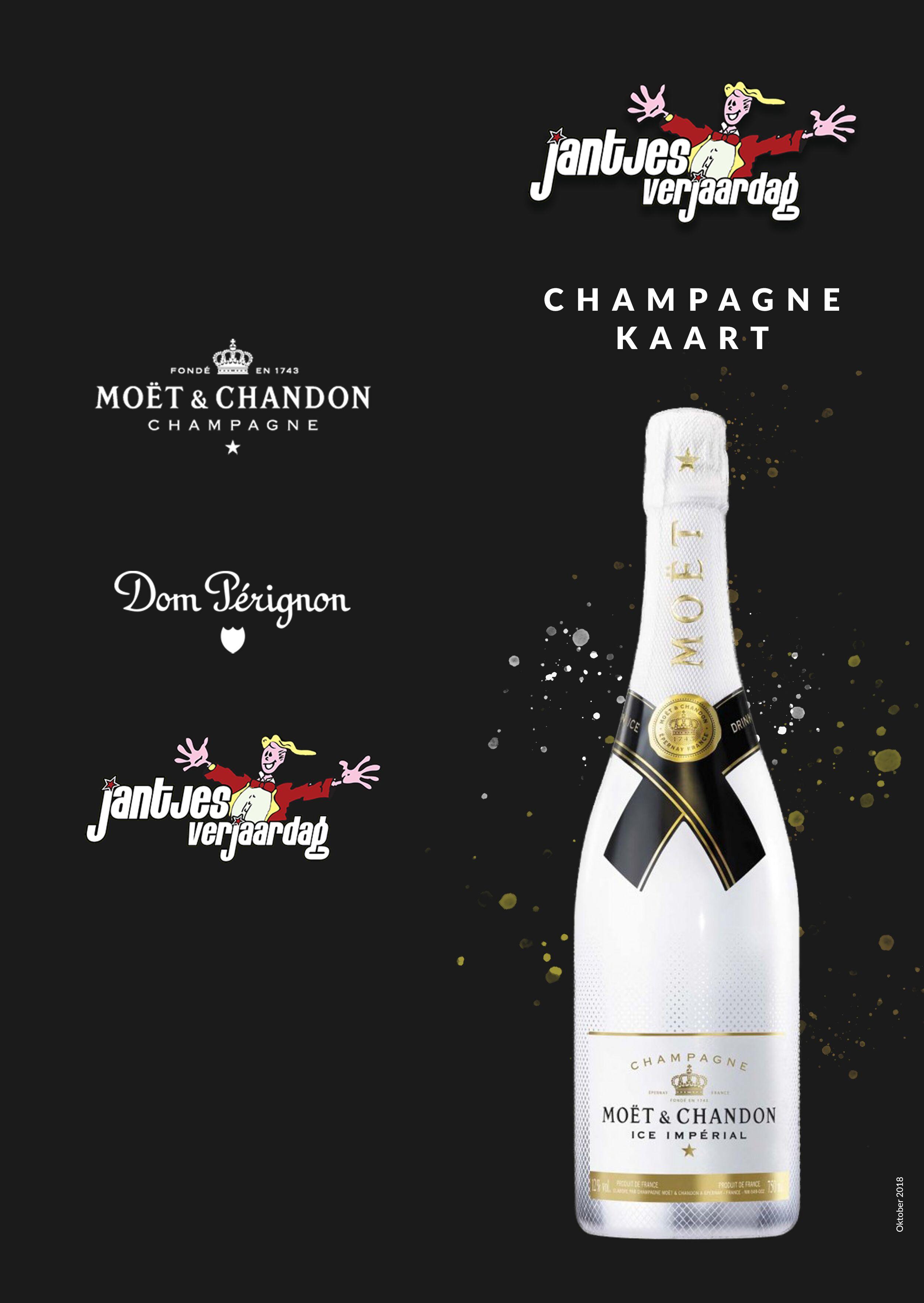 Menukaart Champagne